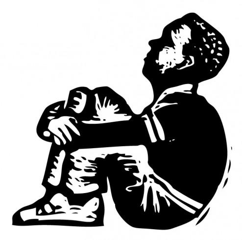 gondolkodó fiú